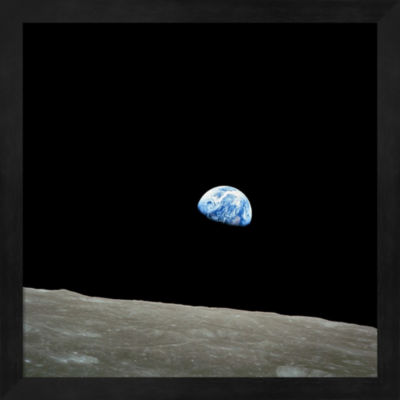 Metaverse Art Earthrise Framed Wall Art