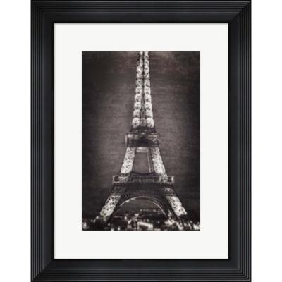 Eiffel Lights B&W Framed Wall Art