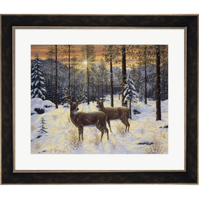 Metaverse Art Evening Silence Framed Wall Art