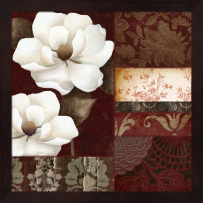 Flores Blancas III Framed Wall Art