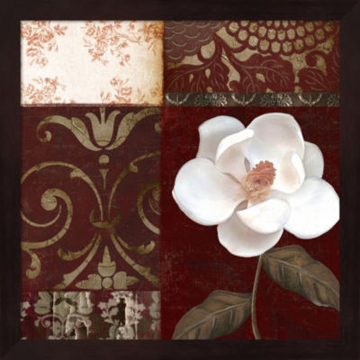Flores Blancas IV Framed Wall Art
