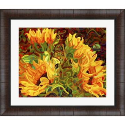 Four Sunflowers Framed Wall Art