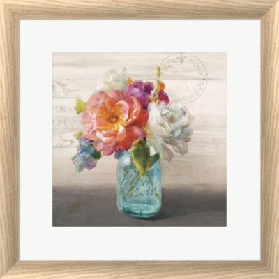 Metaverse Art French Cottage Bouquet I Framed WallArt