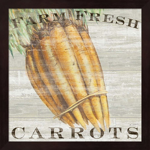 Farm Fresh Carrots Framed Wall Art