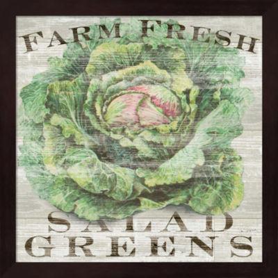 Metaverse Art Farm Fresh Greens Framed Wall Art