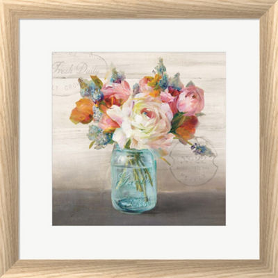 Metaverse Art French Cottage Bouquet II Framed Wall Art