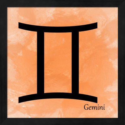 Metaverse Art Gemini - Orange Framed Wall Art