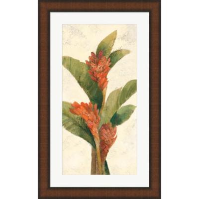 Metaverse Art Ginger Blossom On White Framed WallArt