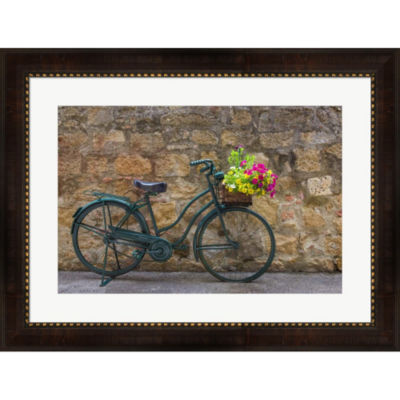 Green Bicycle Framed Wall Art