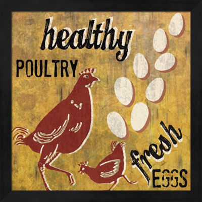 Metaverse Art Healthy Poultry Framed Wall Art