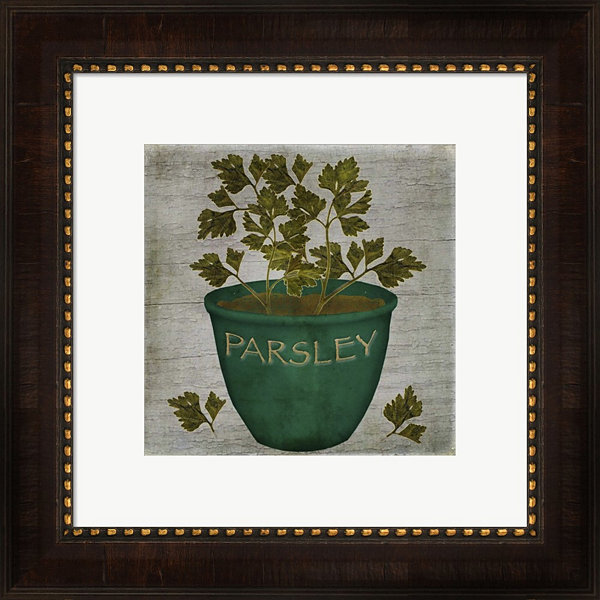 Metaverse Art Herb Parsley Framed Wall Art