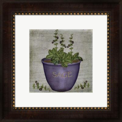 Metaverse Art Herb Sage Framed Wall Art