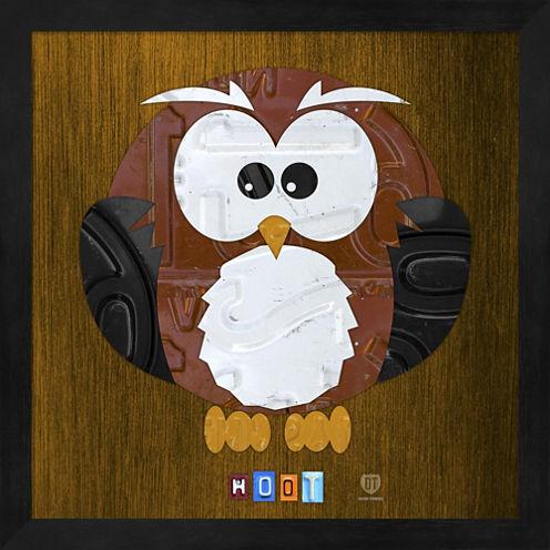 Hoot The Owl Framed Wall Art