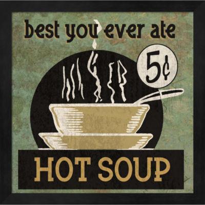 Metaverse Art Hot Soup Framed Wall Art