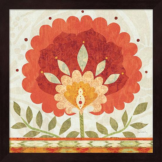 Metaverse Art Ikat Bloom II Framed Wall Art - JCPenney