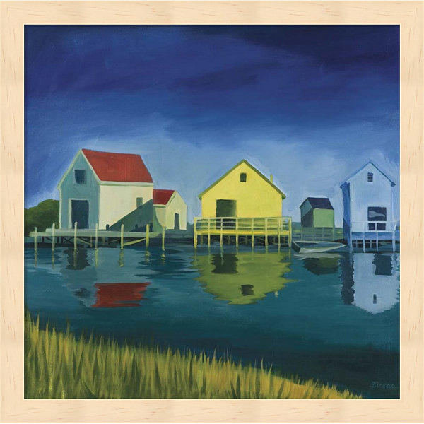 Metaverse Art Kennebunkport Shacks Framed Wall Art