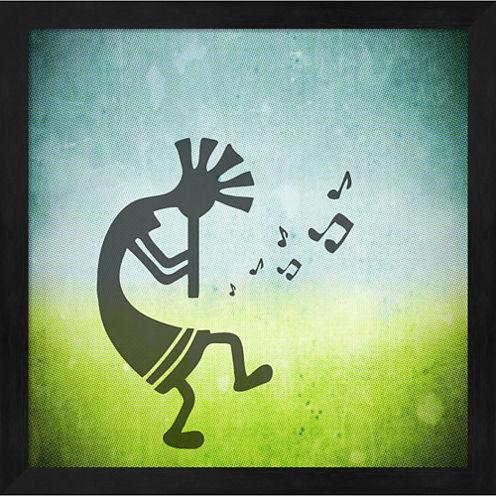 Kokopelli Music II Framed Wall Art