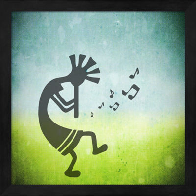 Metaverse Art Kokopelli Music II Framed Wall Art