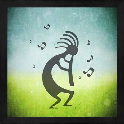 Great Deals On Metaverse Art Kokopelli Music I Framed Wall Art