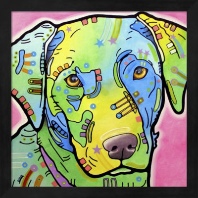 Metaverse Art Labrador Framed Wall Art