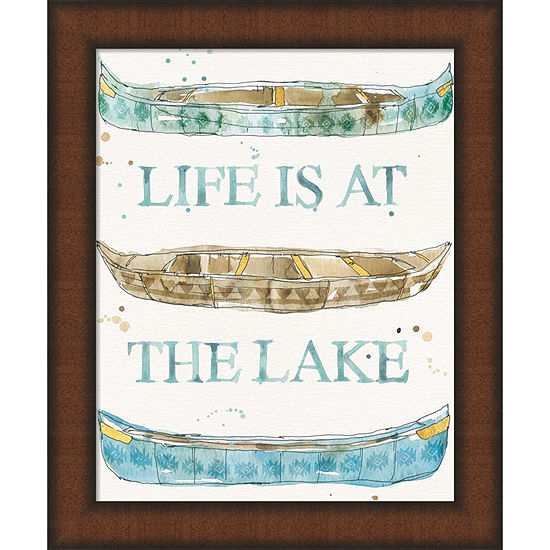 Metaverse Art Lakehouse IV Framed Wall Art