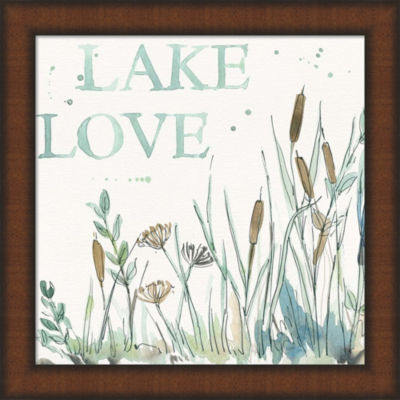 Metaverse Art Lakehouse VI Framed Wall Art