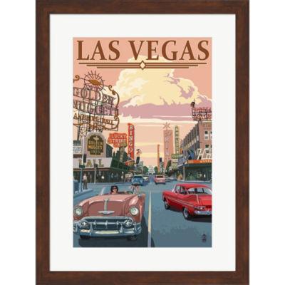 Metaverse Art Las Vegas (VIntage Ad) Framed Wall Art