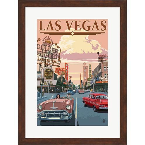 Las Vegas (Vintage Ad) Framed Wall Art