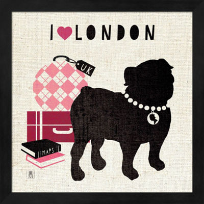 Metaverse Art London Pooch Framed Wall Art