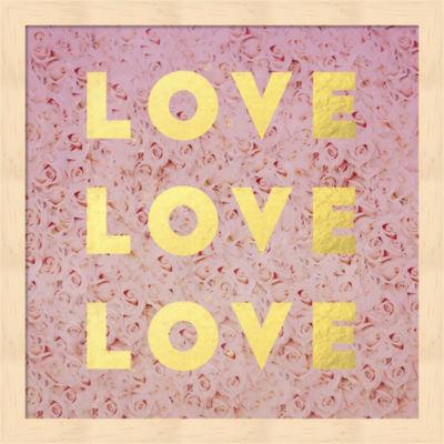 Metaverse Art Love & Roses Framed Wall Art