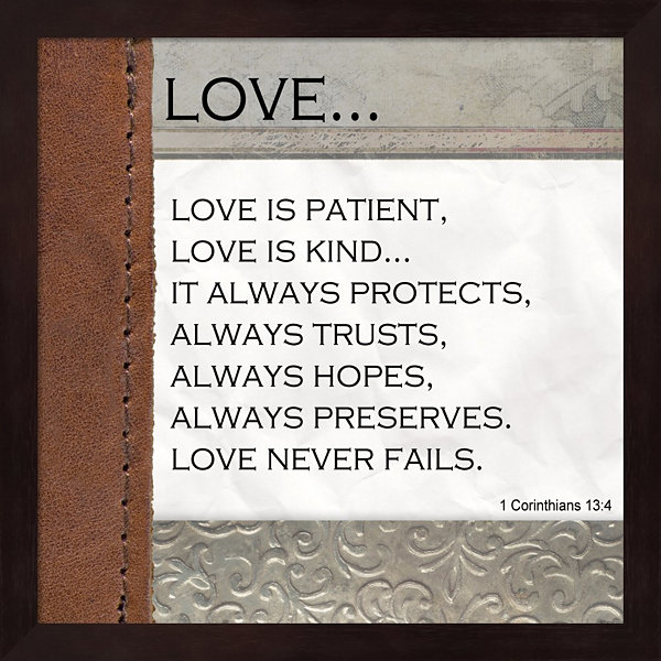 Love Is Patient Love Is Kind Framed Wall Art