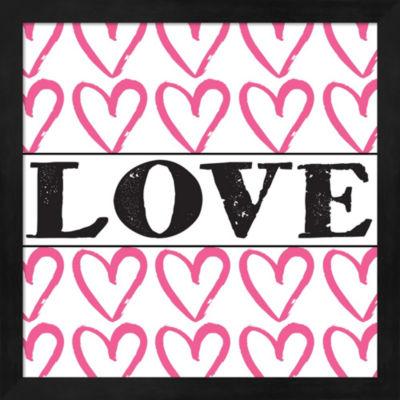 Metaverse Art Love - Pink Sharpie Framed Wall Art