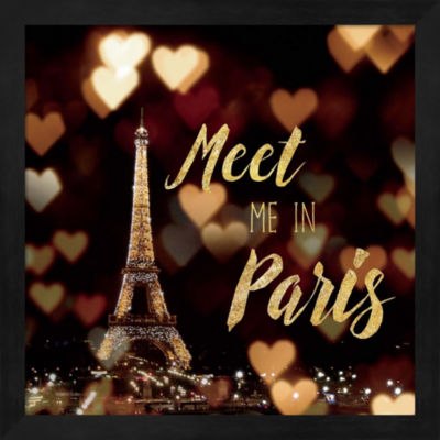 Metaverse Art Meet Me In Paris Framed Wall Art