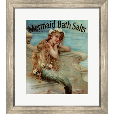 Metaverse Art Mermaid Bathsalts Framed Wall Art