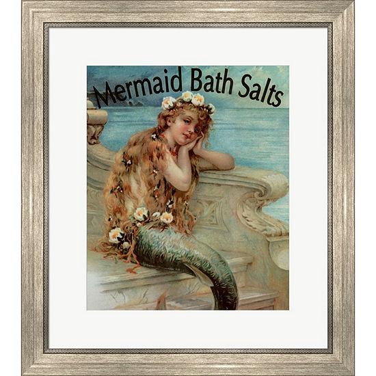 Metaverse Art Mermaid Bathsalts Framed Wall Art