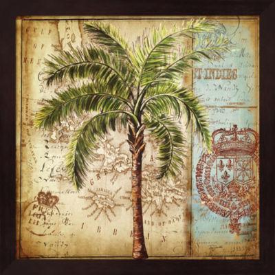 Antique Nautical Palms II Framed Wall Art