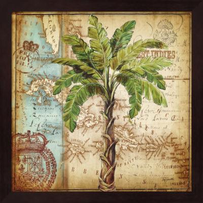 Metaverse Art Antique Nautical Palms I Framed WallArt