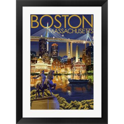 Boston Massachusetts Paul Revere Framed Wall Art