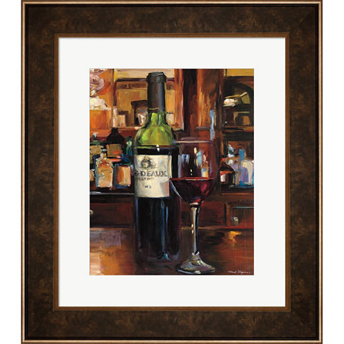 A Reflection Of Wine III Framed Wall Art