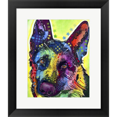 Metaverse Art German Shepherd 1 Framed Wall Art