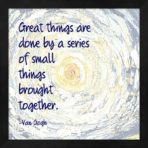 Great Things -Van Gogh Quote 2 Framed Wall Art