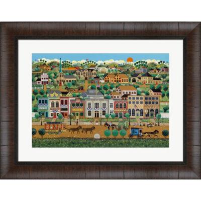 Metaverse Art My Home Town Framed Wall Art
