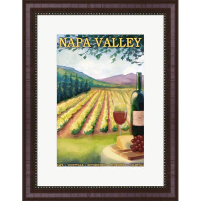 Metaverse Art Napa Valley Ad Framed Wall Art