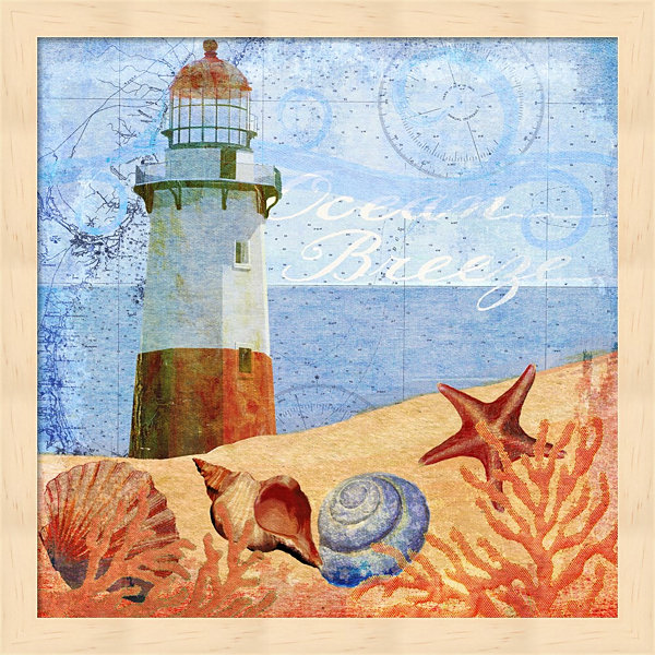 Metaverse Art Ocean Breeze Lighthouse Framed WallArt