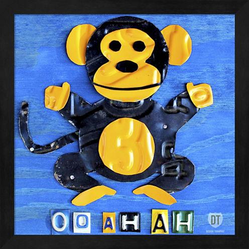 Oo Ah Ah The Monkey Framed Wall Art