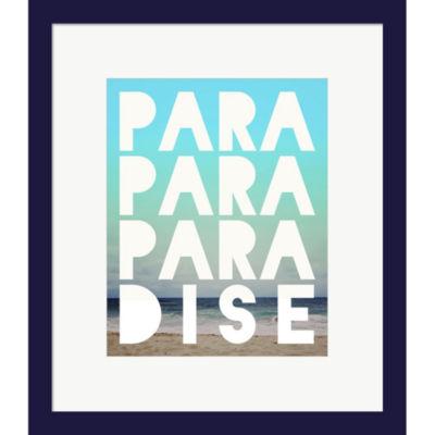 Metaverse Art Paradise Framed Wall Art