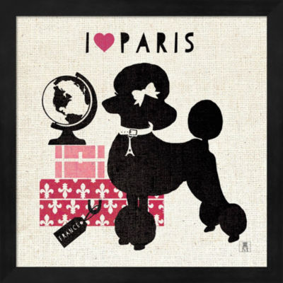 Metaverse Art Paris Pooch Framed Wall Art