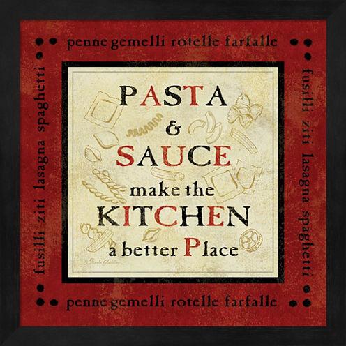 Pasta Sayings II Framed Wall Art