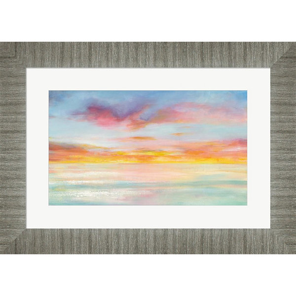Metaverse Art Pastel Sky Framed Wall Art