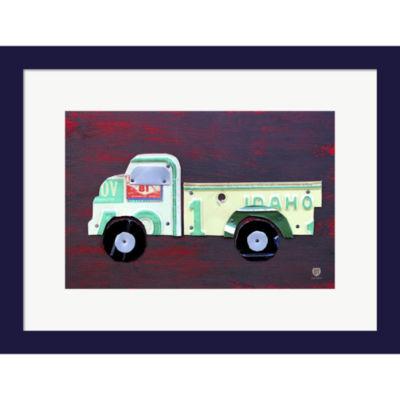 Metaverse Art Pickup Truck Framed Wall Art
